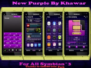 symbian3 purple mobile theme