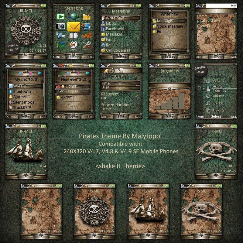 sony ericsson mobile theme pirates by malytopol
