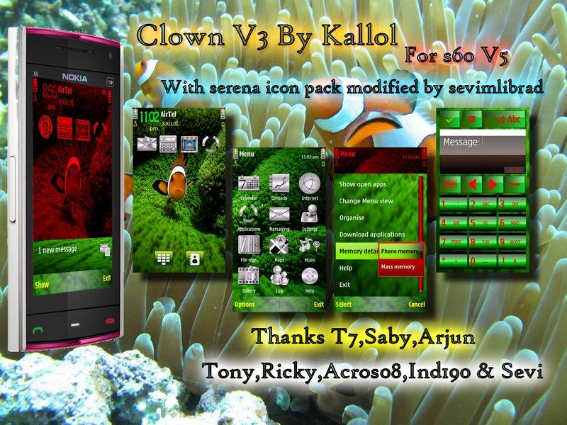 Clown s60v5 nokian97 theme by kallol