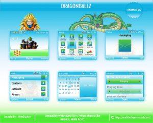 DragonballZ cartoon theme for nokia c3