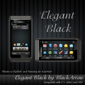 elegant black themes for nokia n8 by blackarrow