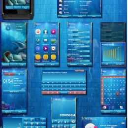 mermaid underwater nokia n8 theme by thabull