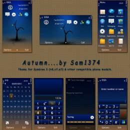 autumn season mobile theme by sam