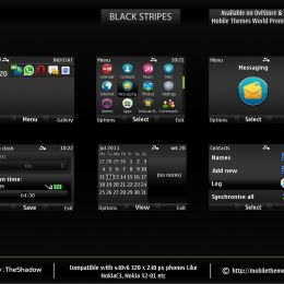 black stripes premium c3 theme for nokia by TheShadow