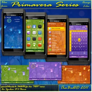 Primavera themes for symbian3 nokia phones