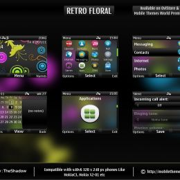 retro floral s40v6 theme by theshadow