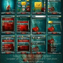 valentime mobile theme for sony ericsson mobiles