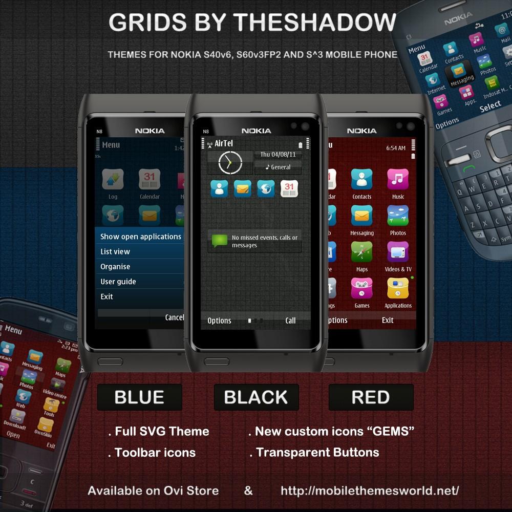 Grids nokia theme by theshadow