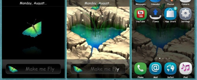 iphone3g theme pond heart by sam1374 with anna icons