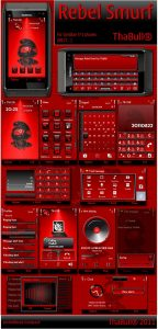 Rebel Smurf Symbian3 theme by ThaBull