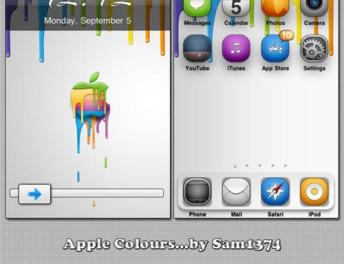 Apple Colours iphone theme by Sam1374