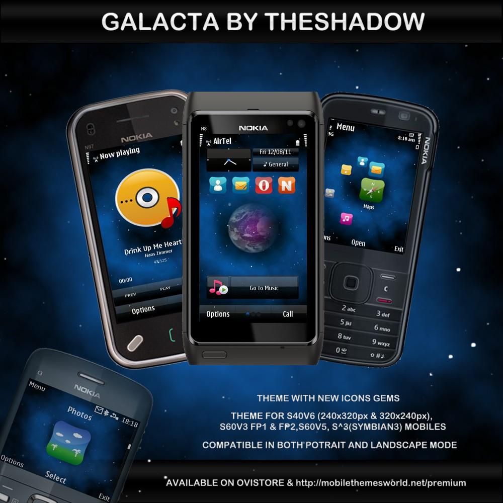 Galacta premium nokia theme by theshadow