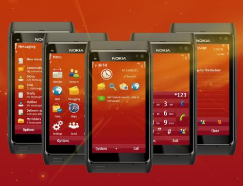 Lights Orange Symbian3 theme by TheShadow