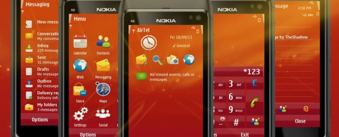 Lights Orange Symbian 3 theme by TheShadow