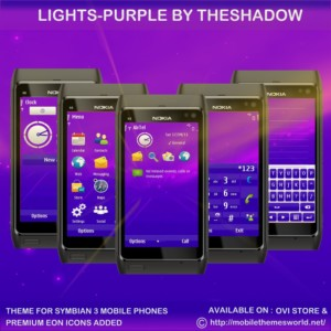 Lights Purple Symbian 3 theme by TheShadow