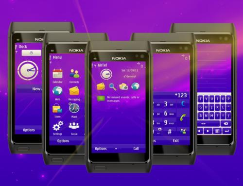 Lights Purple Symbian3 theme by TheShadow