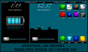 Starwars iphone 3g theme by sam