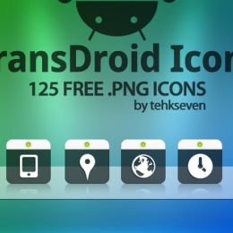 transdroid transparent icons by tehkseven