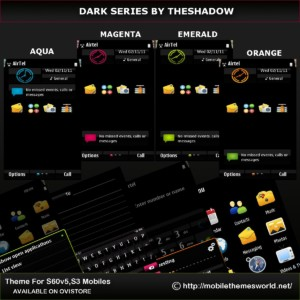Dark Series by TheShadow for symbian 3, symbian anna and s60v5