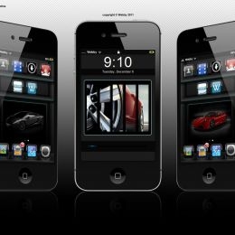 Carbon iphone theme by Webby for iphone 4s