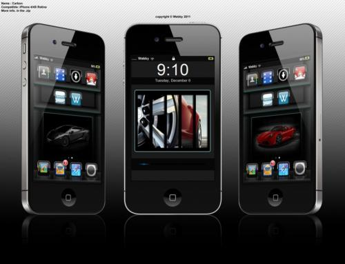Carbon iphone theme by Webby