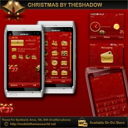 Christmas theme for Nokia C3, X2-01, Asha 200, 201, Symbian Anna and 5th phones