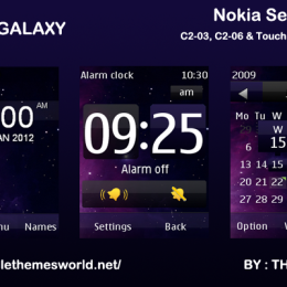 Galaxy theme for Nokia C2-03 & C2-06, x3-02