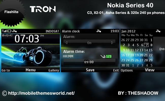 Tron movie theme for Nokia C3, X2-01 & Asha 200, 201 by theshadow