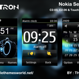 Tron theme for Nokia C2-03 & C2-06, X3-02