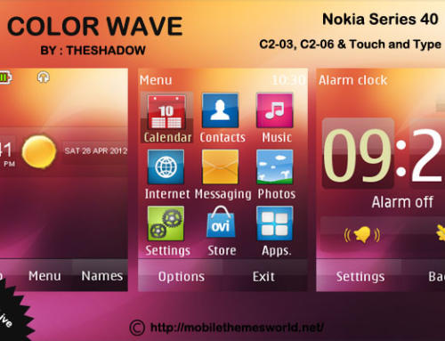Color Wave theme for Nokia C2-03 & C2-06, X3-02