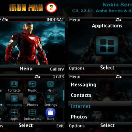 Ironman 2 movie Nokia c3, nokia asha Theme by TheShadow
