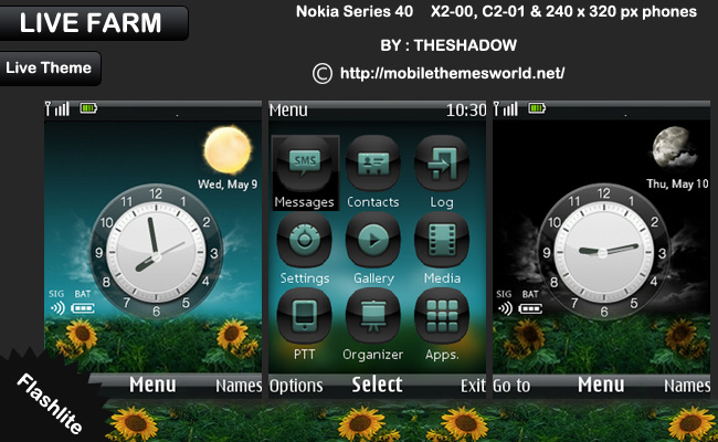 Live farm live nokia x2 theme by theshadow