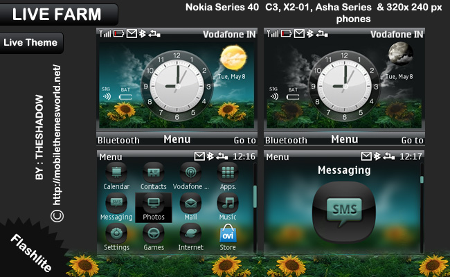 live farm nature theme with live indicator nokia theme by theshadow