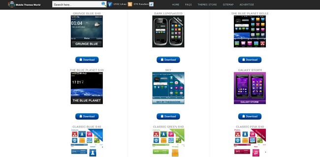 nokia themes store page