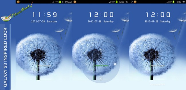Galaxy S3 Inspired Lock Large Preview Homepage