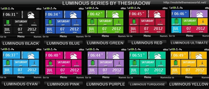 Luminous Series theme for Nokia C3, X2-01 & Asha 200, 201, 302, X2, C2-01 phones by theshadow