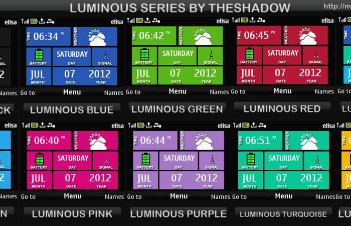 Luminous Series theme for Nokia C3, X2-01 &amp; Asha 200, 201, 302, X2, C2-01 phones by theshadow