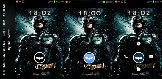 The Dark Knight Rises Theme Go Locker for Android phones by theshadow