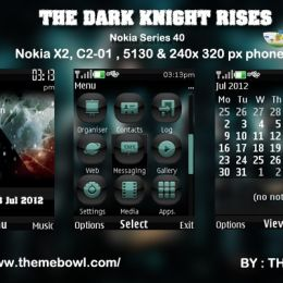 The Dark Knight Rises theme for Nokia 5130, C2-01, X2-00 and 240 x 320 px phones