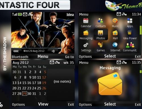Fantastic Four movie theme for Nokia C3, X2-01 & Asha 200, 201, 302 phones