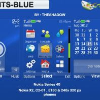 Lights Blue theme for Nokia 5130, C2-01, X2-00 and 240 x 320 px phones