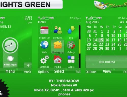 Lights Green theme for Nokia 5130, C2-01, X2-00 and 240 x 320 px phones