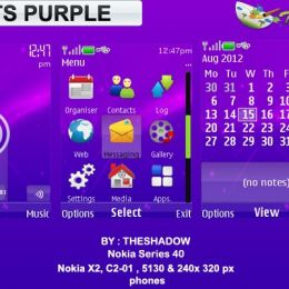 lights purple nokia theme free
