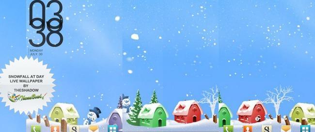 Snowfall at Day Android Live Wallpaper