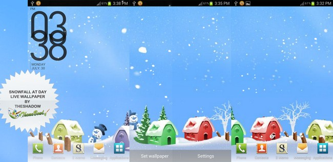 Snowfall at Day Android Live Wallpaper