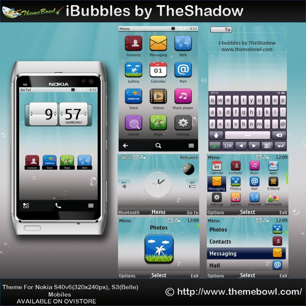 iBubbles theme for nokia
