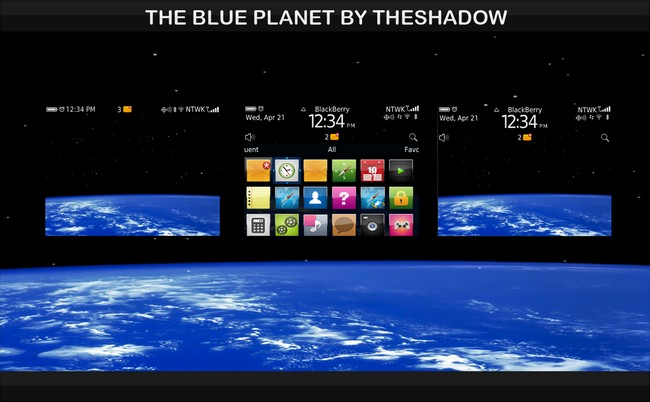The Blue Planet BlackBerry Curve Theme