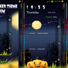 Halloween Night 2012 Freemium Go Locker Theme by TheShadow of themebowl