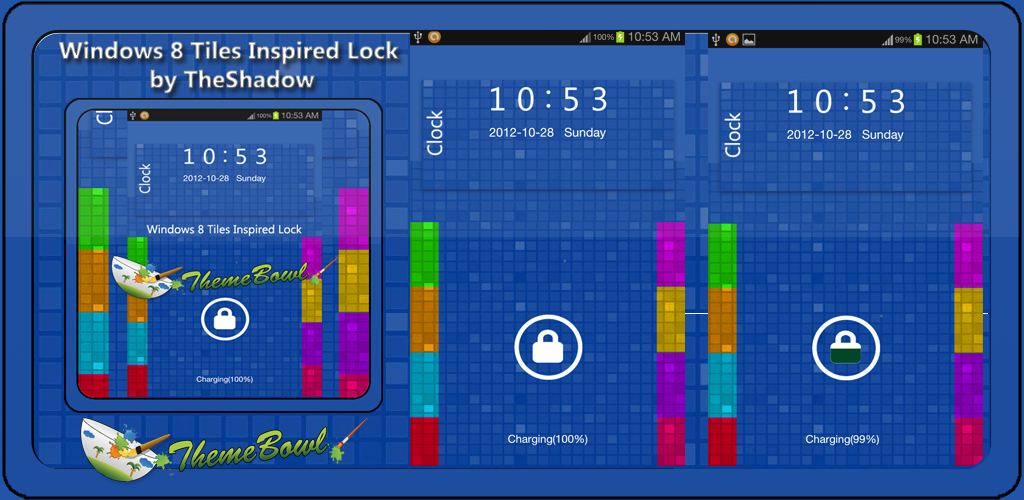 Windows 8 Tiles Inspired Free GoLocker Theme by TheShadow