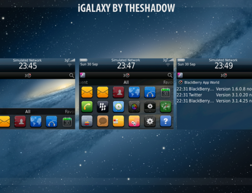 iGalaxy Blackberry Theme by TheShadow